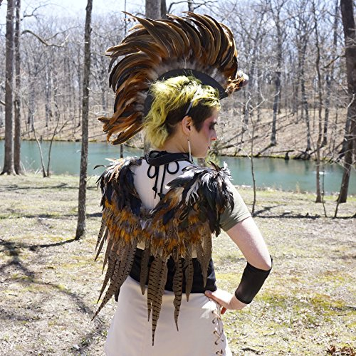 ZUCKER Natural Pheasant Wings and Natural Coque Feather Mohawk Set