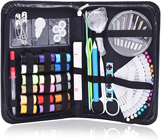 Kit de Costura - WENTS 90 Piezas Accesorios Costurero Kit con herramientas de Accesorios, Agujas y Accesorios de Costura para Principiantes, Viajero, Emergencia, Familia(Negro): Amazon.es: Hogar