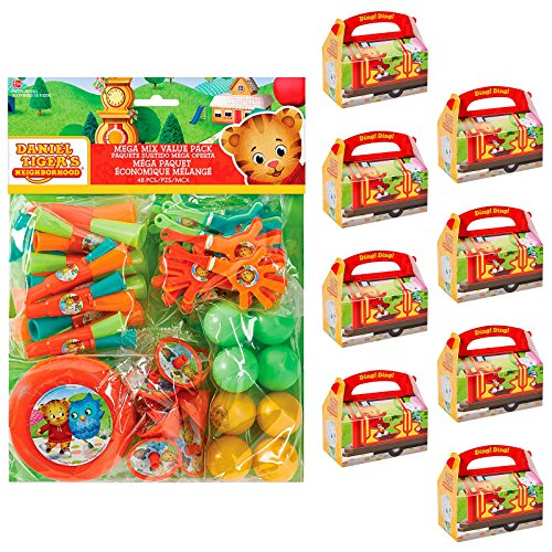 BirthdayExpress Daniel Tigers Neighborhood Party Supplies Filled Favor Box Kit (For 8 Guests) by BirthdayExpress