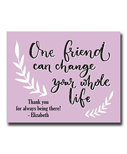 Personalized Friend Paper Art Print