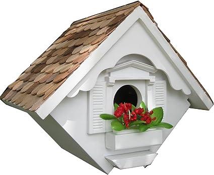 Amazon.com : Home Bazaar Hand-made Little Wren White Bird House - Hanging Bird  House - Home Decor : Bird Houses : Garden & Outdoor
