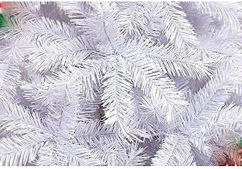 Hengda Lot de 200 Sapin de No/ël Artificiel avec Support en Plastique Blanc 120 cm