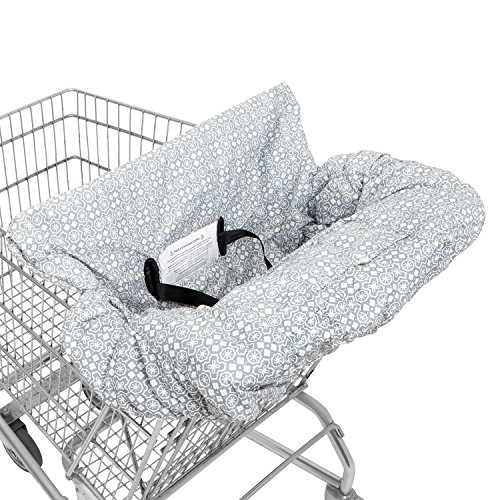 WATERPROOF 2-in-1 Baby Shopping Cart Cover & High Chair Covers with Safety Harness for Babies & Toddler (Unisex Grey) Futura High Chair