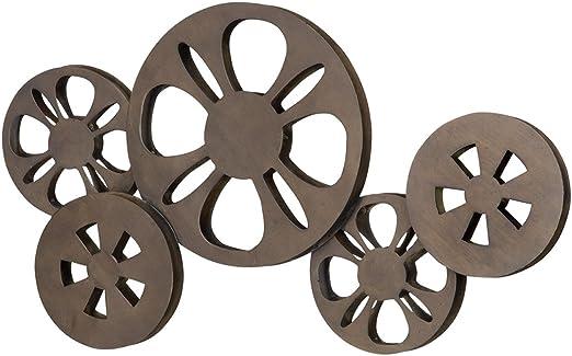 Benzara Metal Movie Reel Elegant Accessory for Conference Room