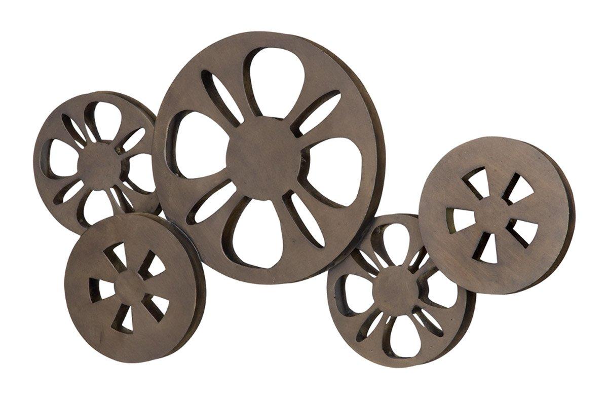 Deco 79 Metal Movie Reel Elegant Accessory for Studio