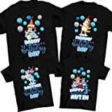 NEW Bluey Personalized Birthday Party Gift T-Shirt
