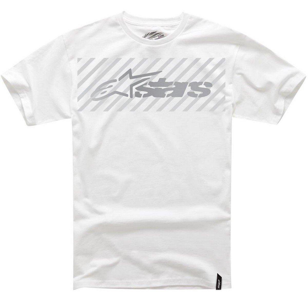 Alpinestars Mens Snafu Classic Short-Sleeve Shirts Medium White