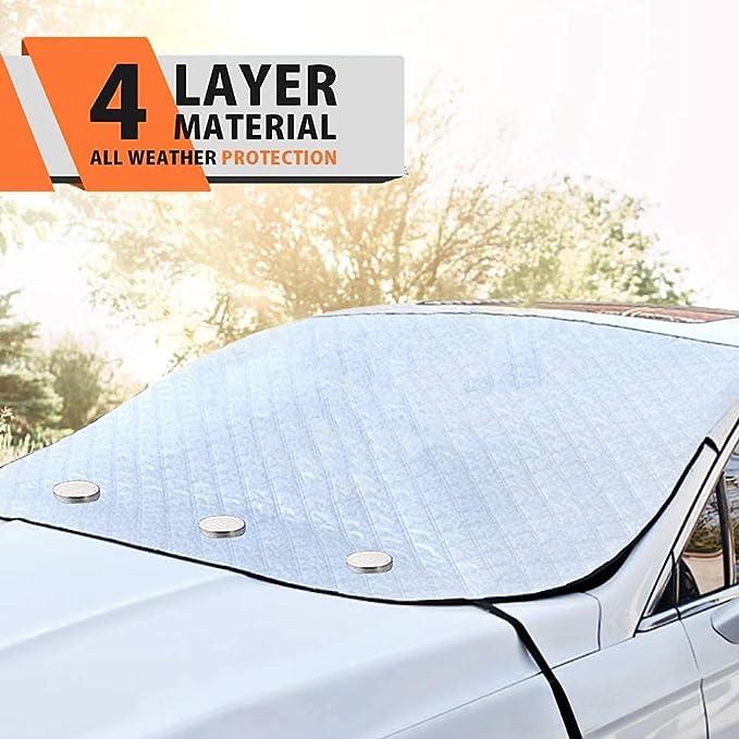 le gel Couverture de neige de pare-brise de voiture de Pikachu et de Piplup; Couverture dhiver de pare-brise imperm/éable de pare-soleil de voiture pour la glace la neige la protection solaire