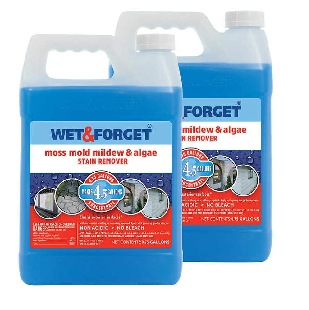 Wet and Forget 10587 1 Gallon Moss, Mold and Mildew Stain Remover (2 Pack(1 Gallon)) by WET & FORGET (Image #1)