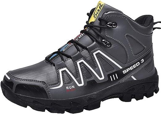 XFQ Zapatos De Trekking Senderismo Hombres, Zapatos Corrientes Respirables Que Caminan Impermeables Zapatillas De Deporte del Cuero De Amortiguación Trail,Gris,43: Amazon.es: Hogar