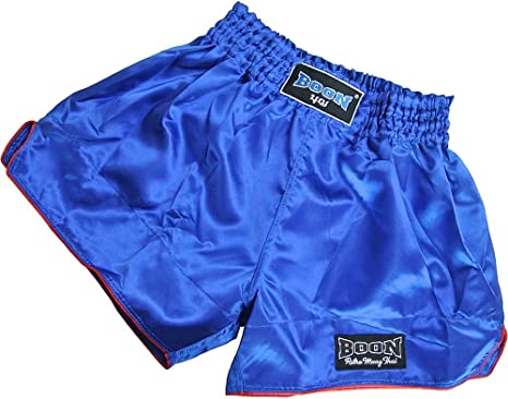 Boon Muay Thai Shorts Satin Retro Black