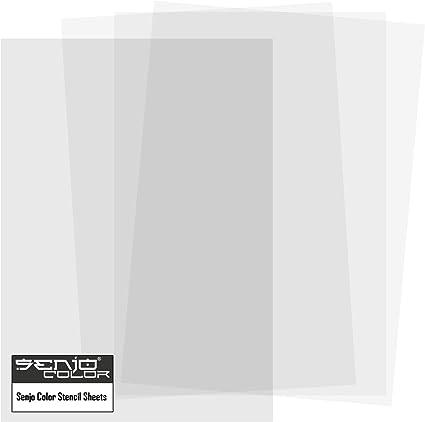 Plantilla para corte | 100 Hojas DIN A 4 | 250µm | material plástico - poliéster | Senjo Color: Amazon.es: Belleza