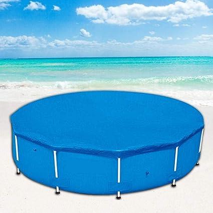 Paño de suelo para piscinas, protector de suelo Paño de suelo inflable Paño de suelo al aire libre para piscina piscina infantil, jardín piscina Cubierta plegable para piscinas redondas sobre suelo: Amazon.es: