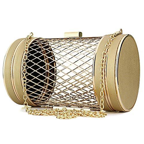 ibella Metal Bucket Bag - Cartera de mano para mujer negro