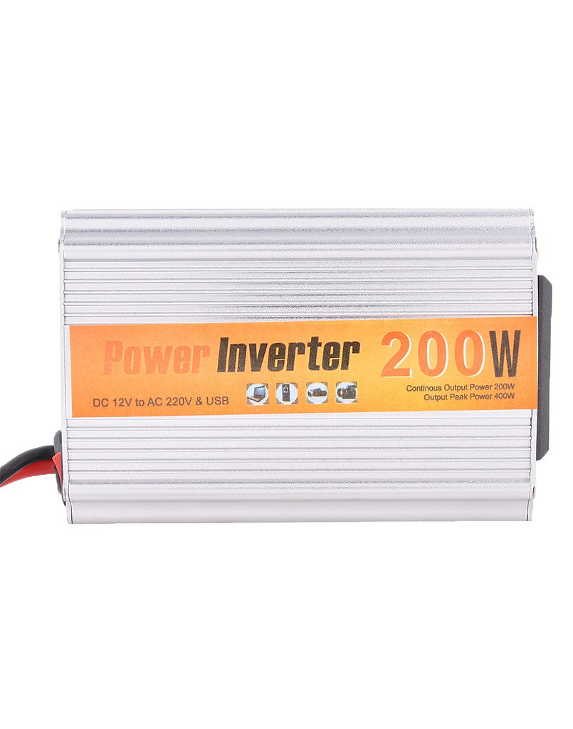 Technotech Dc To Ac 200w Power Inverter With Usb Port For Car Use 100 Watt Circuit Laptop Mobile Charger Electronics