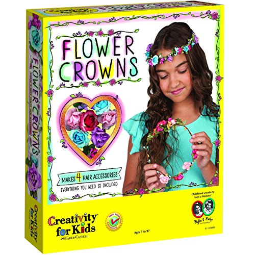 Image of the Creativity for Kids Flower Crowns - Hair Accessory Kit for Kids