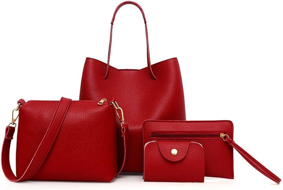 Math Red Leather Top Handle Satchel Girl Handbag Shoulder Tote Bag for Girls Women