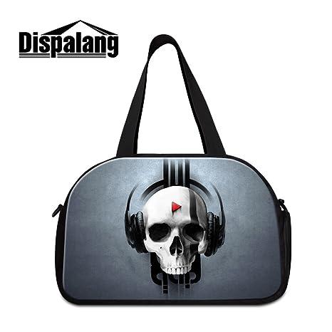 485886542b55 Amazon.com: Generic Skull Printing Gym Bags for Adults Cool Duffle ...