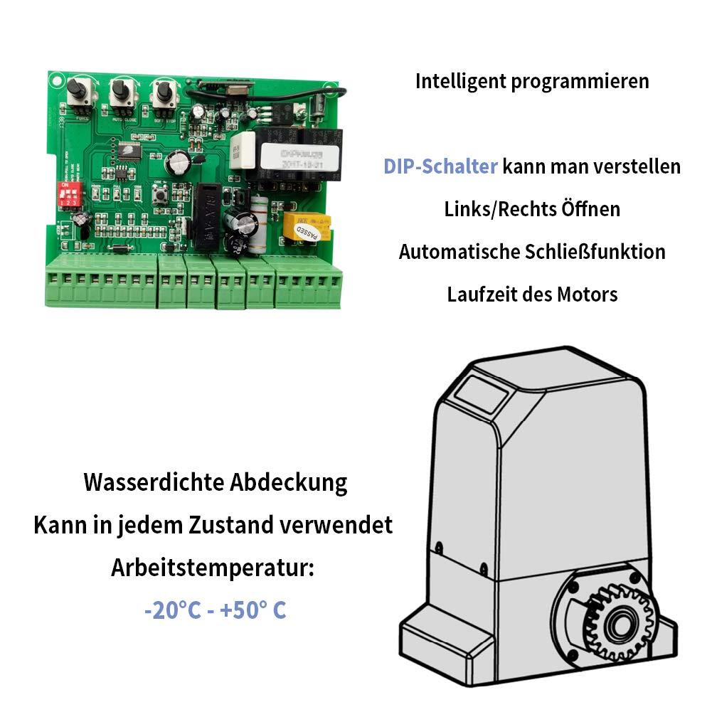 300.00W incluye 2 mandos Mecanismo de puerta corredera con mando a distancia apertura autom/ática para puerta de patio y garaje Topens