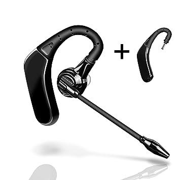 TTMOW Auriculares Bluetooth 4.1 con Micrófono Externo y Dos Batería Reemplazable, Manos Libres Teléfono para Conductores Oficina Reunión de Negocios ...