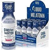 Dream Water Natural Sleep Aid, GABA, MELATONIN, 5-HTP, 2.5oz Shot, Nighttime Nectar 12 Count
