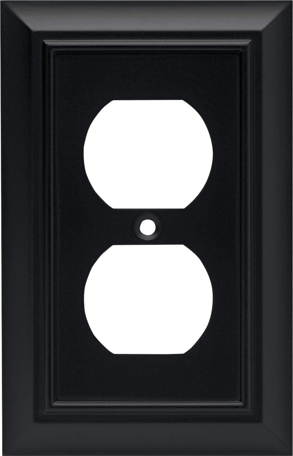 Architectural Single Duplex Outlet Wall Plate Switch Plate Cover Flat Black Packaging May Vary Black Light Switch Cover Amazon Com