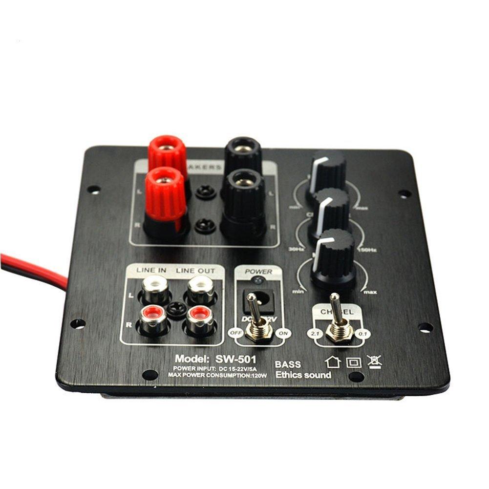 AIYIMA 2.1 Amplificador Digital Subwoofer SMD Integrado Junta Independiente 2.0 Canal Salida Regionalizació n Funcional Amplificadores