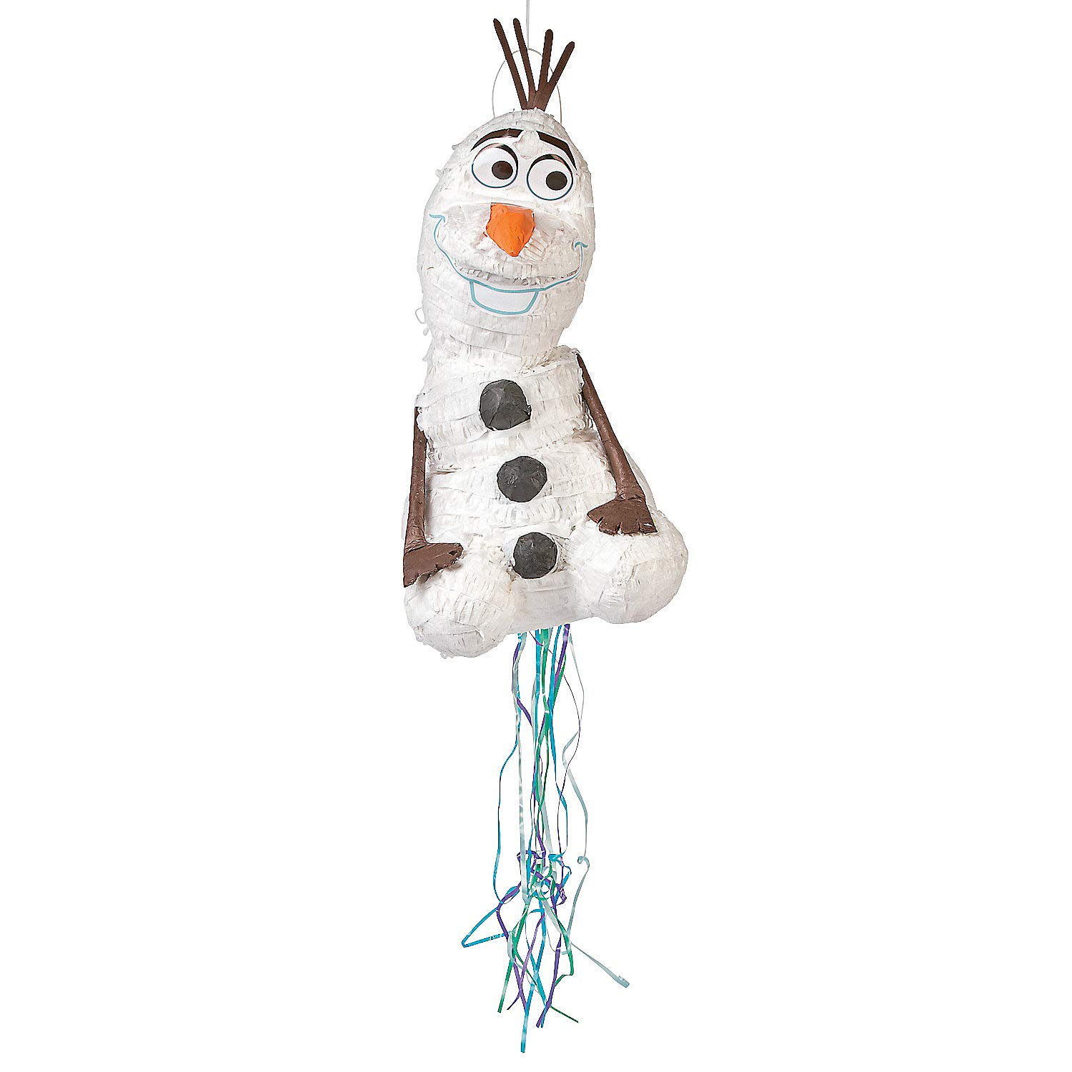 Frozen Olaf Pull String Pinata - Birthday Party Supplies by Fun Express