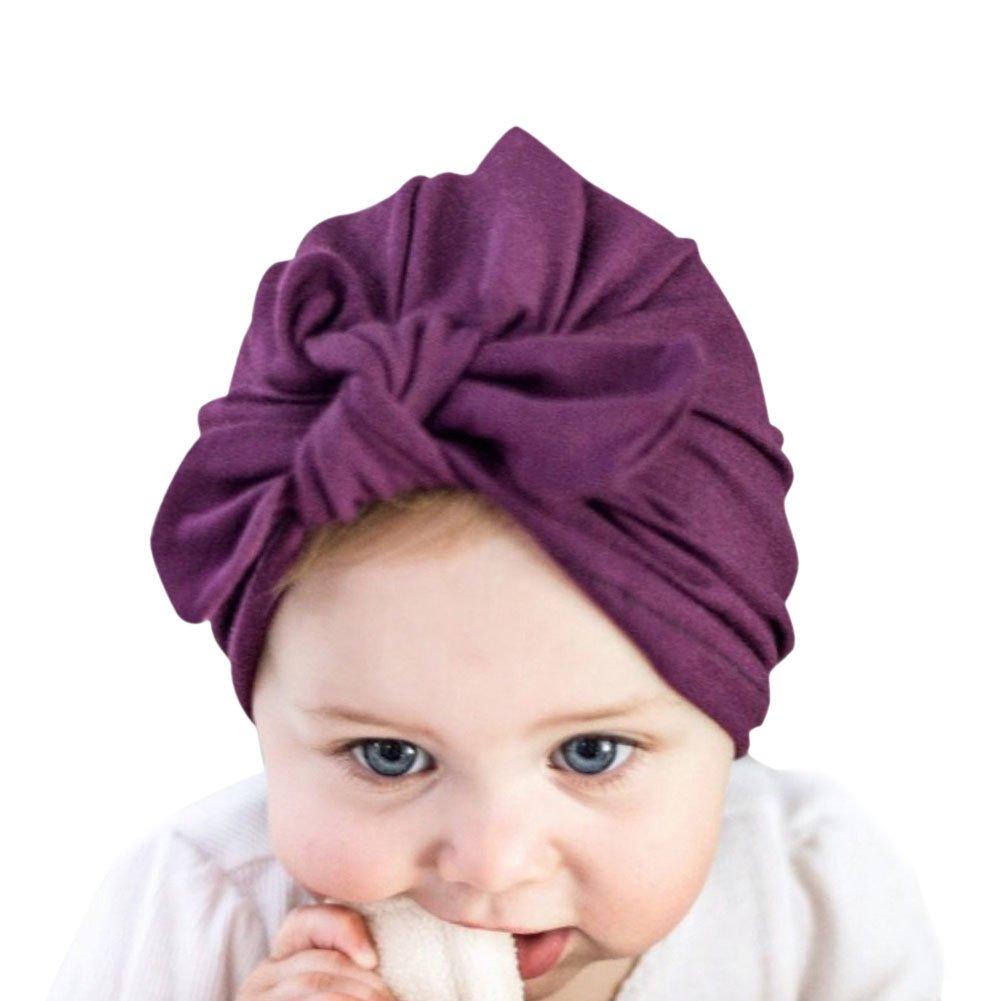 Chic-Chic Nouveau-né Chapeau Bonnet Bébé Fille Elastique Noeud Papillon Déguisement Coiffure Photographie