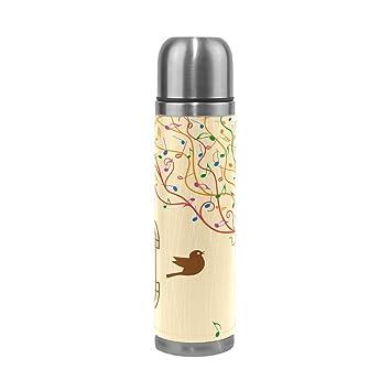 TIZORAX Jaula de Pájaros en el árbol Musical Doble Pared Taza de ...