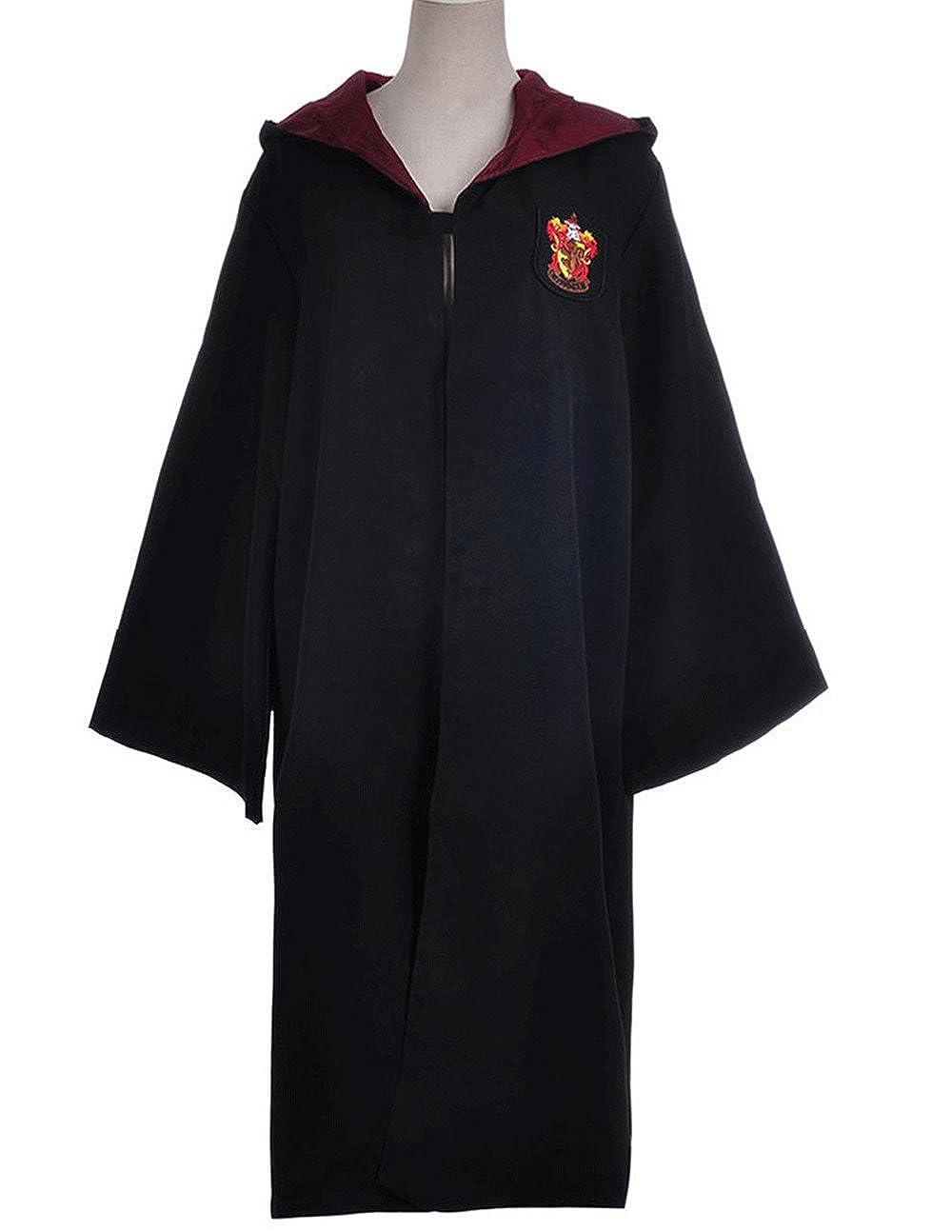 Harry Potter Kost/¨/¹m J/¨/¹nger Erwachsene Slytherin Schule lange Umhang Mantel Robe Gr??e S M XL