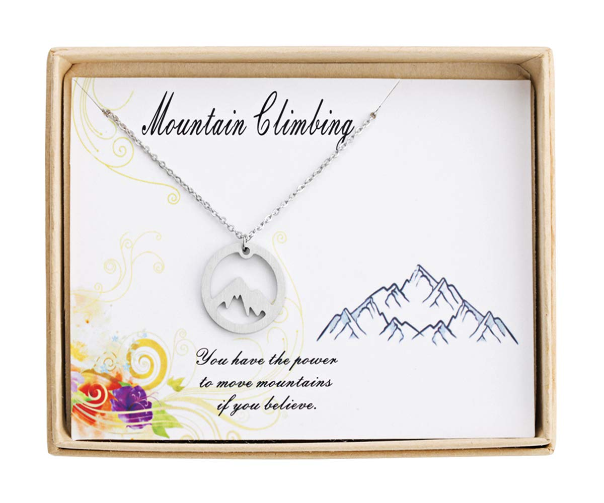 Sunique Mountain Necklace Mountain Range Necklace Nature Lovers Gifts Travel Jewelry for Women