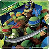 Nickelodeon American Greetings Teenage Mutant Ninja Turtles 9 in Square Plate, Pack of 8, Party Supplies