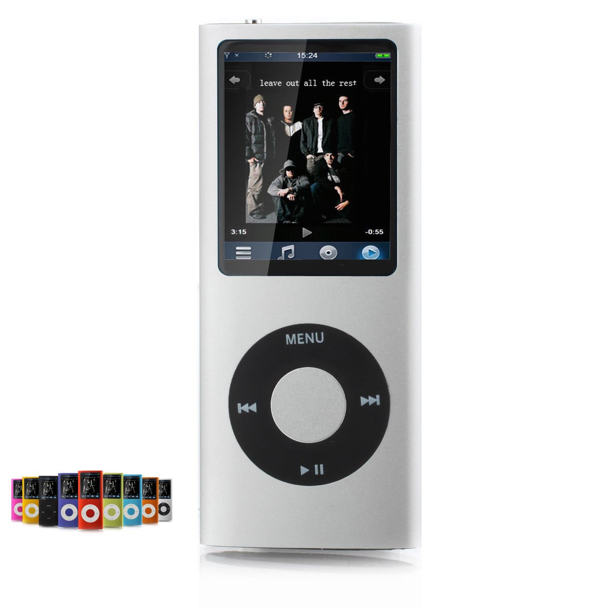 "Amazon.com: 16gb Slim TONIK Mp3 Mp4 Player with 1.8"" LCD Screen Fm Radio,  Video Games & Movie Silver: Home Audio & Theater"