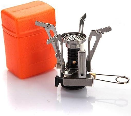 Mini-Hornillo a gas portátil para Camping, aire libre, acero ...