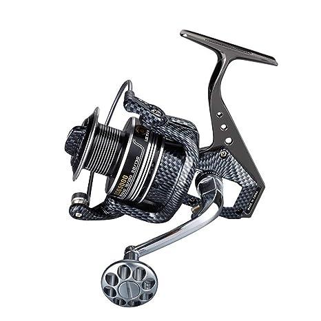 UHJJKL Spinning Fishing Reel, 4.7/5.5 : 1 Rodamientos de Bolas ...