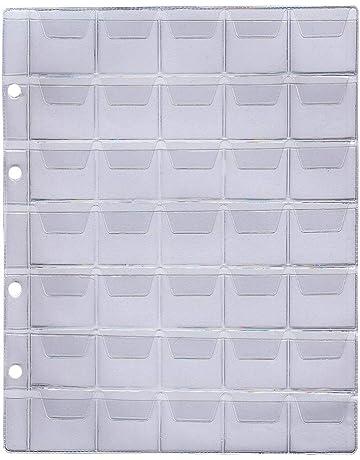 Larius Group 5 x Fundas de plástico para Monedas Álbum portamonedas Hojas, 26 – 35