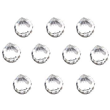 Pack de 10 piezas 30 mm cristal transparente lámpara de ...