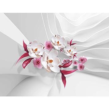 Fototapeten Blumen 3D Weiß 352 X 250 Cm Vlies Wand Tapete Wohnzimmer  Schlafzimmer Büro Flur Dekoration