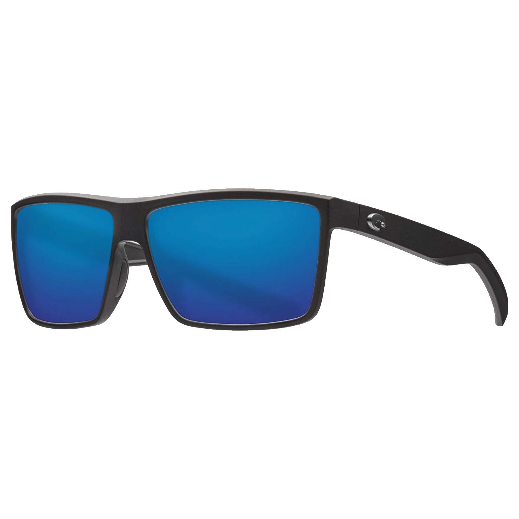 Costa Rinconcito Matte Black Plastic Frame Blue Mirror Lens Unisex Sunglasses RIC11OBMP
