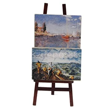 Amazon Com 1 12 Scale Artist Wooden Easel Painting Dollhouse