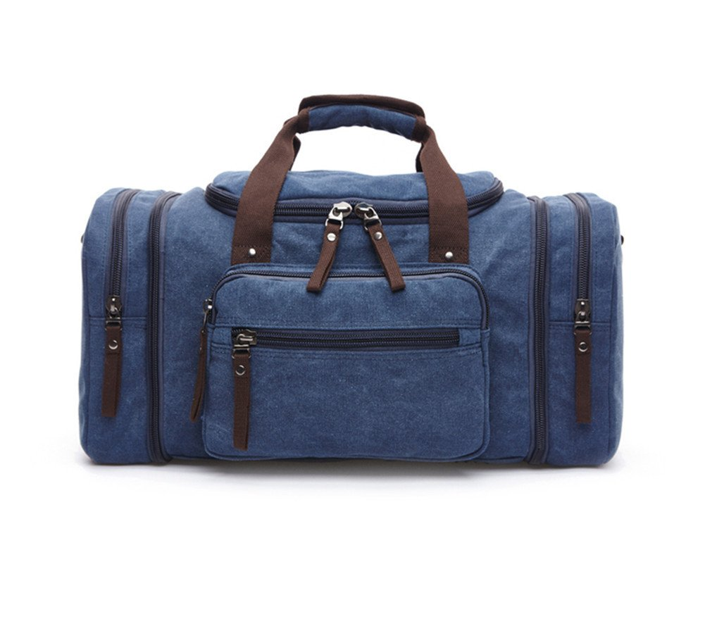 Sechunk Duffle Bag Canvas Leather Large Outdoor Shoulder Bag