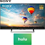 Sony XBR-49X800E 49-inch 4K HDR Ultra HD Smart LED TV (2017 Model) w/Hulu $25 Gift Card