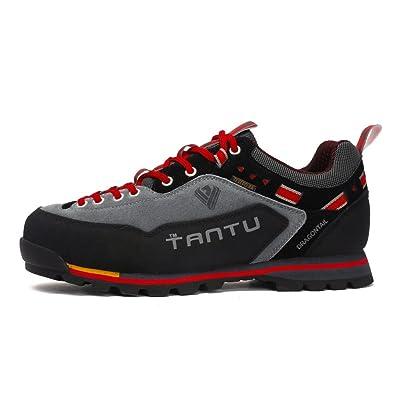 nihiug Chaussures de Randonnée Hommes Légers Marche Chaussures Respirant Trekking Extérieur Réel en Cuir Occasionnels Chaussures de Sport étanches