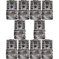 Moultrie A-35 14MP 60 HD Video Low Glow Infrared Game Trail Camera (10 Pack)