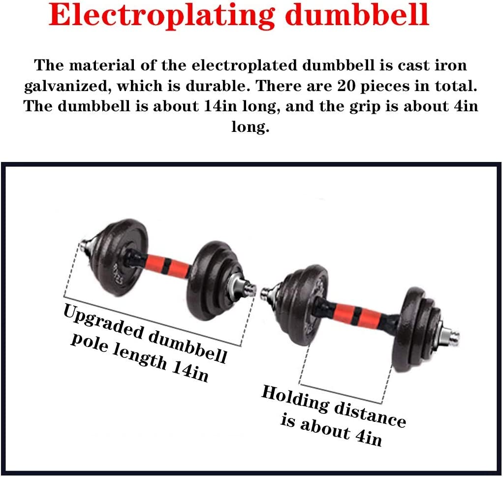 DD-home Adjustable Dumbbell Barbell Lifting Set 50Kg//110Lb Exercise /& Fitness Dumbbells Free Weight Set with Connecting Rod Set for Men Women Beginners Home Gym Weights Stand Indoor Sports