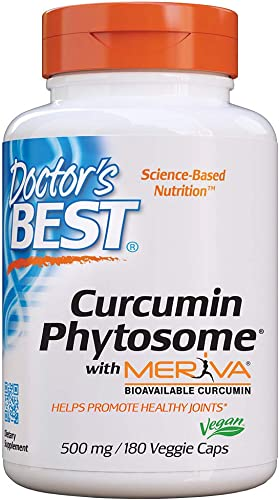 Doctor s Best Curcumin Phytosome with Meriva, Non-GMO, Vegan, Gluten Free, Soy Free, Joint Support, 500 mg 180 Veggie Caps