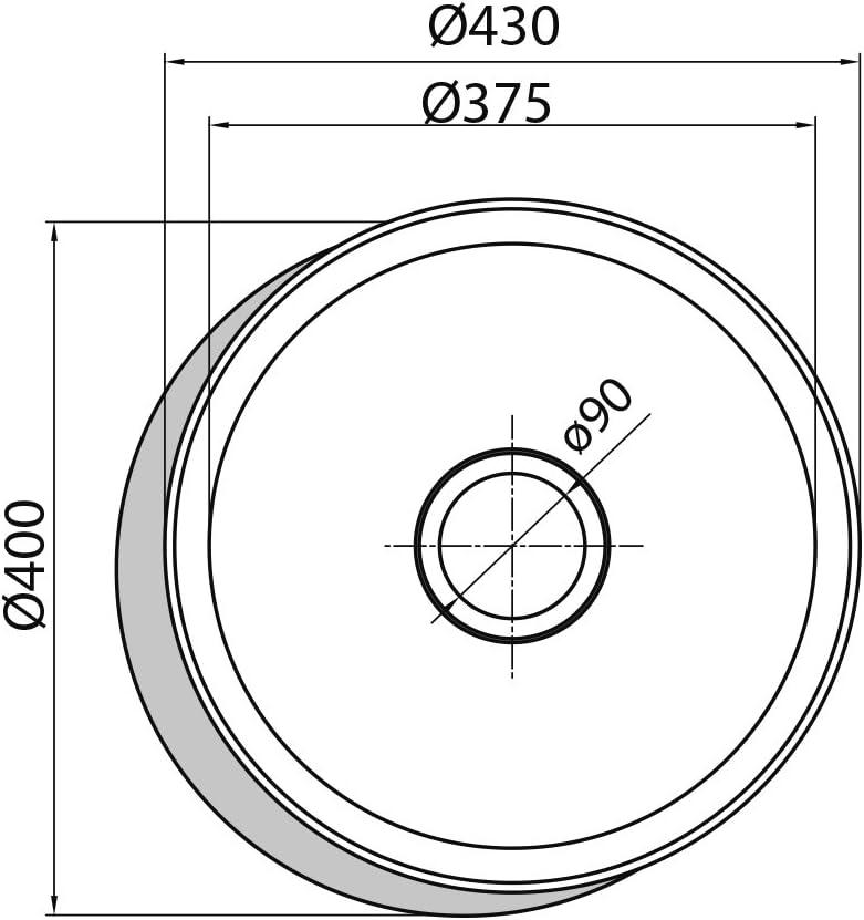 3.5 Zoll Edelstahl, Edelstahl, 1 Bowling, 43 cm, 18 cm, 8,89 cm Sp/ülbecken CATA R-1 Edelstahl