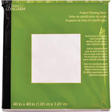 amazon com project planning sheet by dritz longarm 40 x 40 in