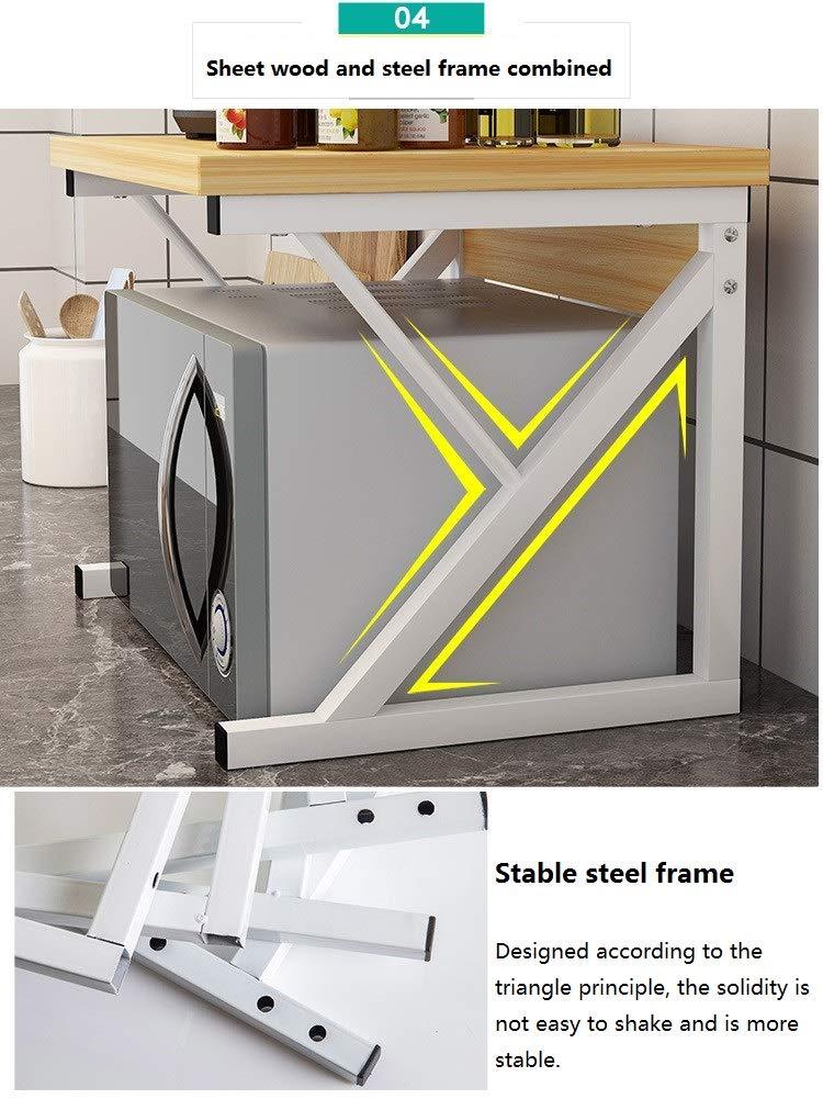 RYMR M/últiples Funciones Espesar Horno Microondas,Moderno Simple Art/ículos De Cocina Estante De Almacenamiento Bastidor De Almacenamiento De Encimera-a 50x40x37cm 20x16x15inch